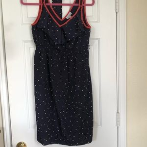 Pea in the pod Navy dot Leoda dress- {baby shower}